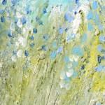 blau-weiße Stauden im Sommer von Antje Strang