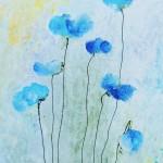 blauer Mohn von Antje Strang
